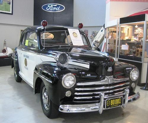 1948 Ford San Diego Police Car Police Cars Ford Police Old Police Cars