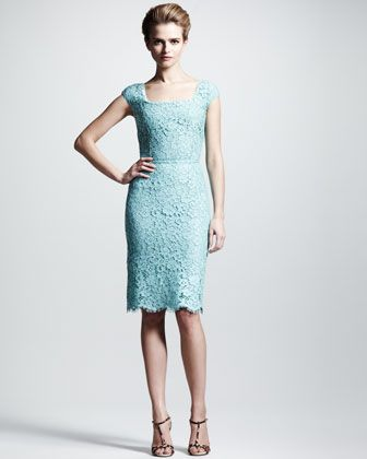 7f456a10e3 Dolce   Gabbana Cap-Sleeve Lace Dress from Neiman Marcus - I m thinking  Mother of the Bride dress! My mom will be stylin ! No jacket.