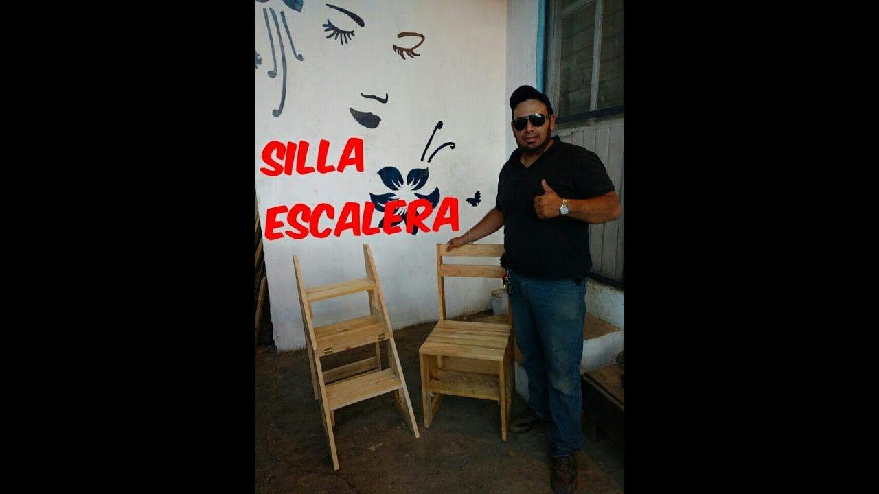 Silla escalera bancos e cadeiras pinterest sillas for Silla escalera de madera