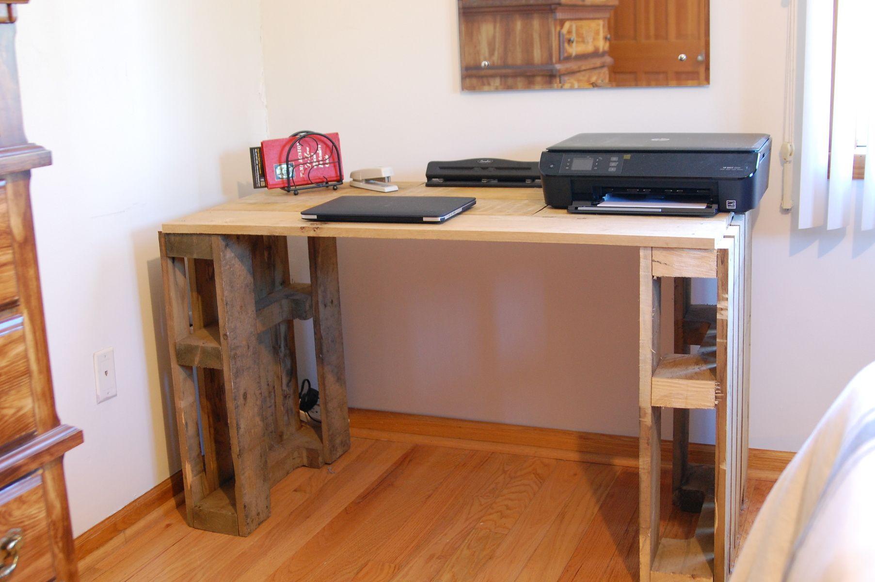 office desk europalets endsdiy. Custom Desk Made From Wood Pallets By Jonathan Blake Miceli Office Europalets Endsdiy N