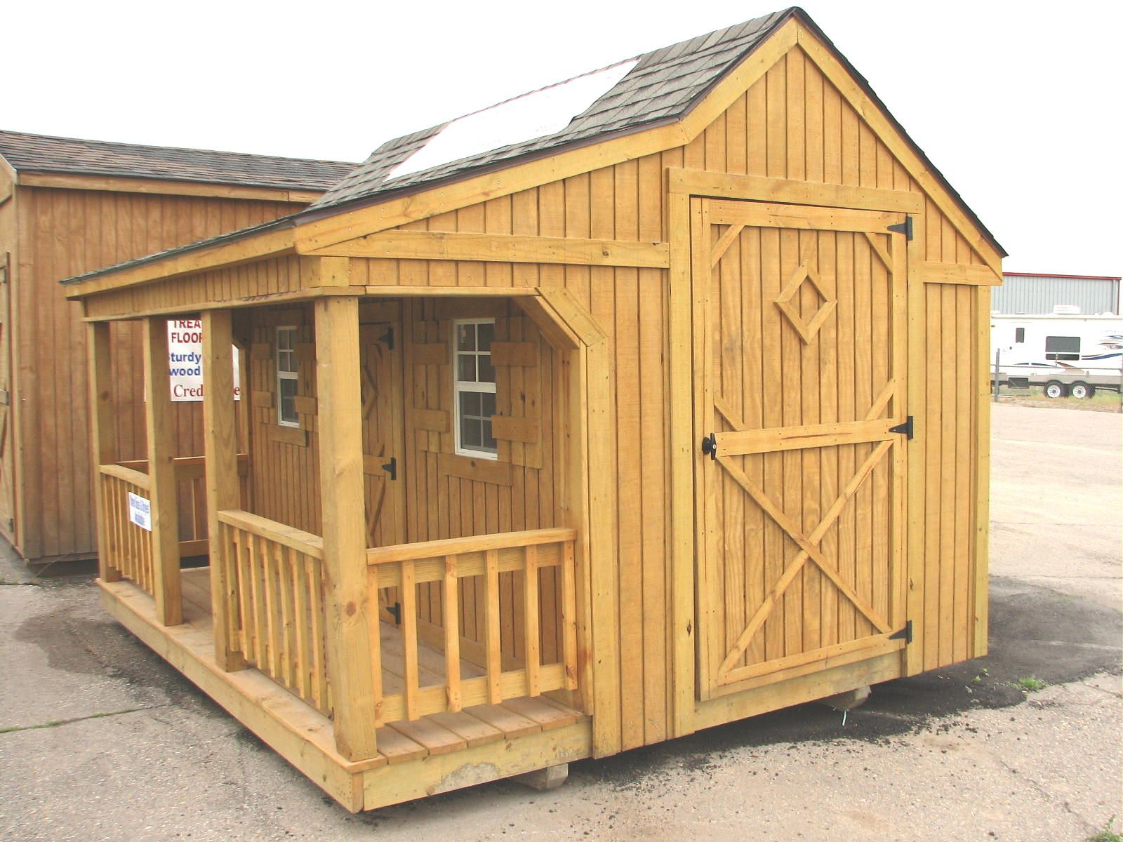 how to turn a storage shed into a dog house