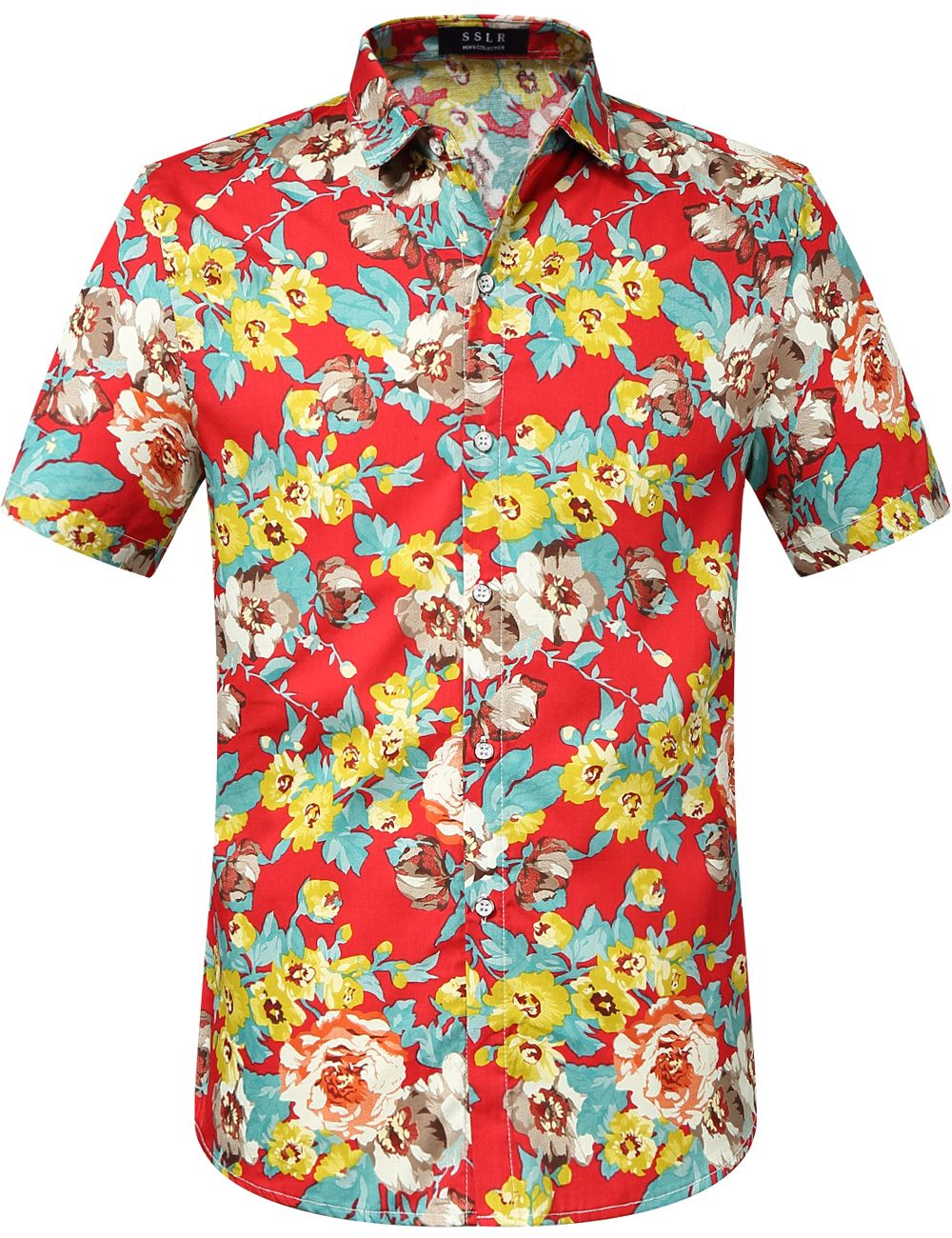 fa896c5e $22.00 Blast Red Floral Print Hawaiian Shirts #Hawaiian shirt#menswear