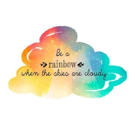 'Try to be a Rainbow' Art Print - Quote Master   Art.com