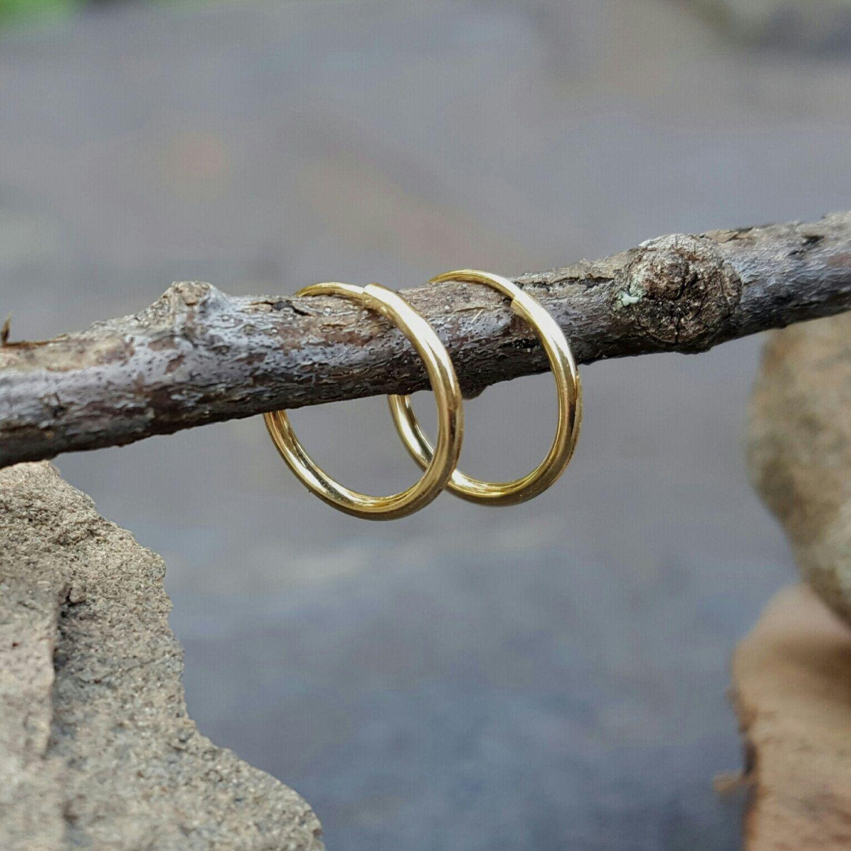 Tiny Gold Hoops 14k Hoop Earrings Small 10mm