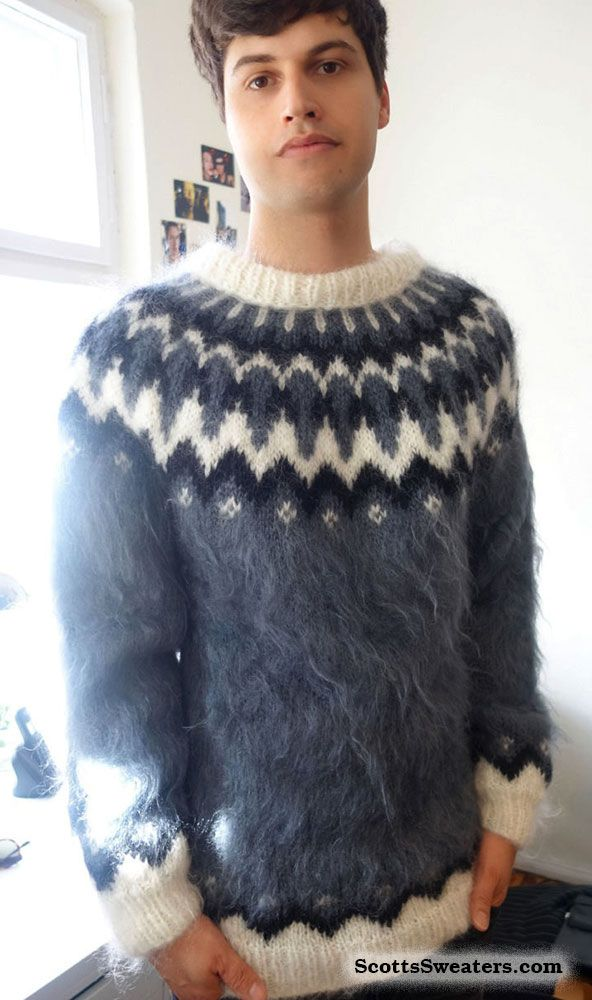 Mens Mohair Sweater Posted For Sale Mens Fuzzy Sweaters Men