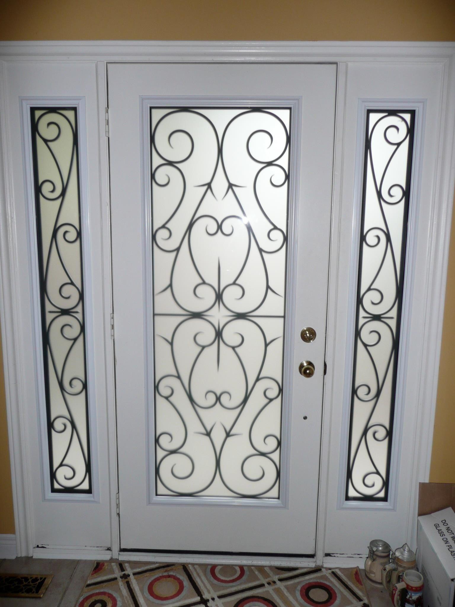 Front Door Wrought Iron Glass Inserts Portas De Ferro Portas De