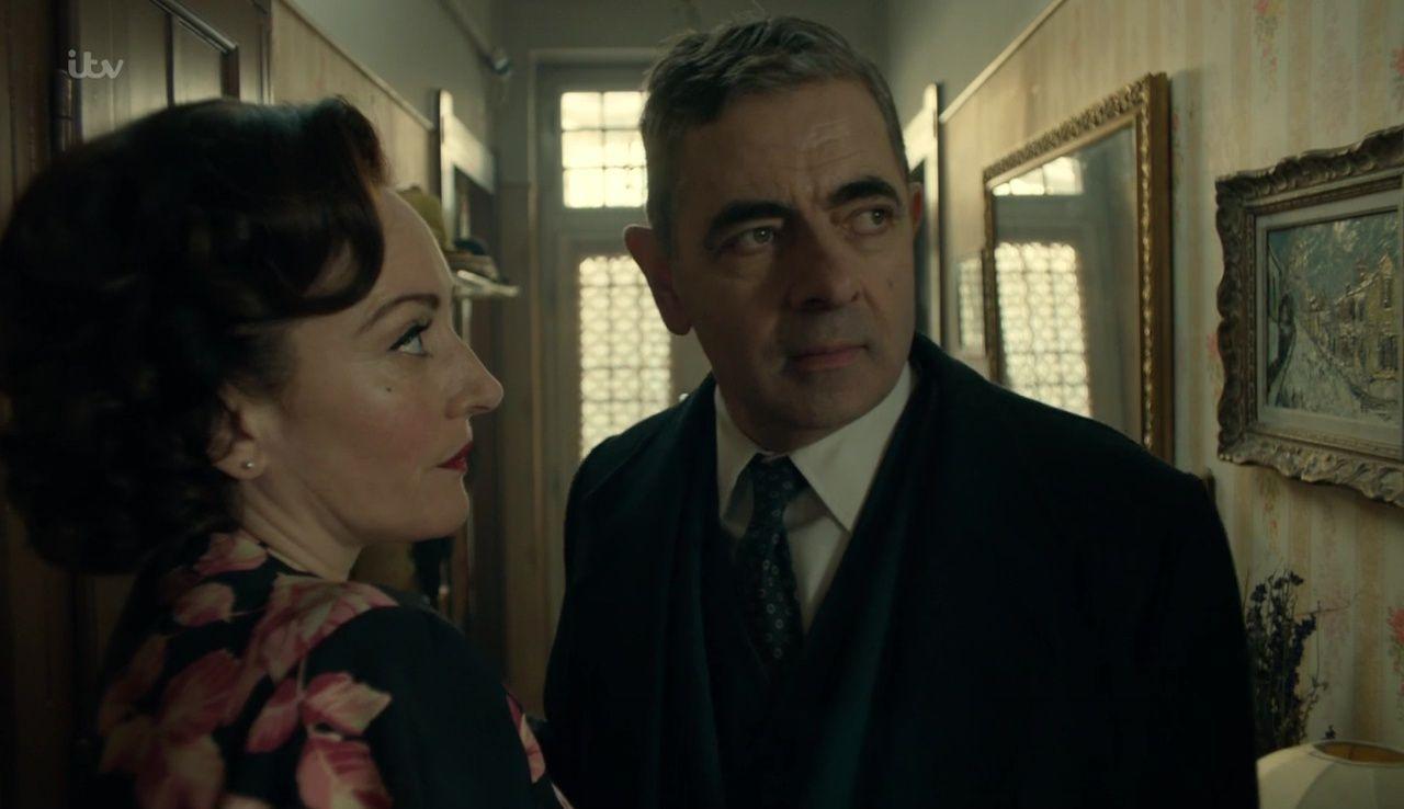 Rowan Atkinson And Lucy Cohu In Maigret S Dead Man 2016 Sean Connery Rowan Atkinson
