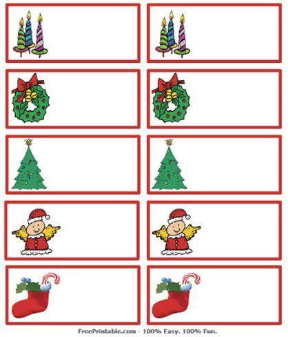 tarjetas de navidad imprimibles para identificar los regalos