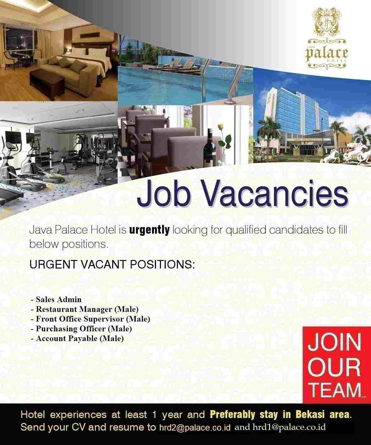 Java Royal Palace Bekasi Jobs