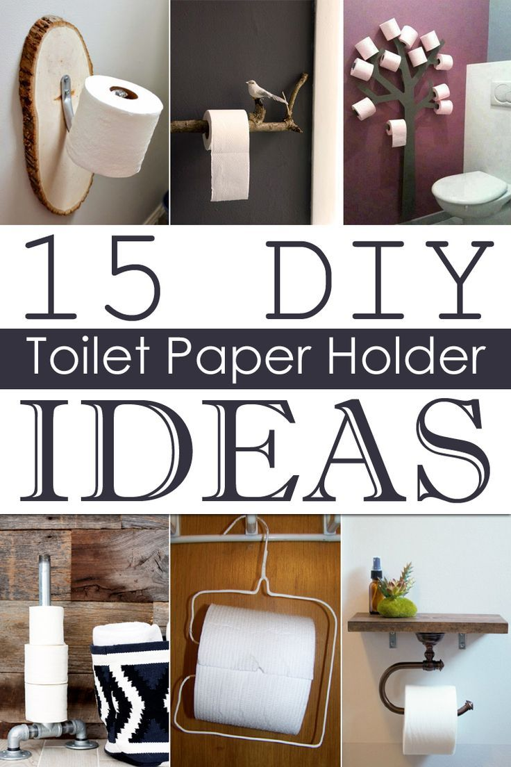 To Add A Little More Style To Your Bathroom Try To Make Your Own Toilet Paper Holder Using The Followin Diy Toilet Paper Holder Diy Toilet Toilet Paper Holder