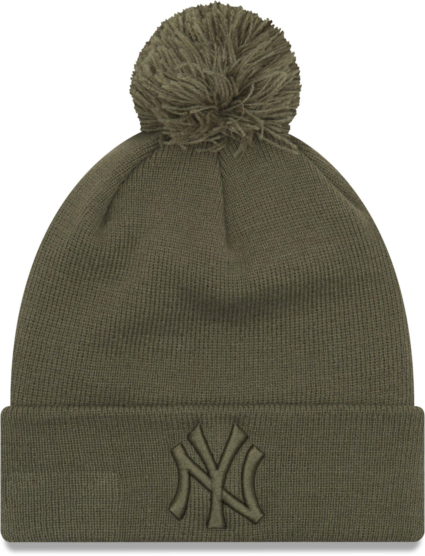 8a2b224f6b0 NY Yankees Womens New Era Essential Knit Khaki Bobble Hat – lovemycap
