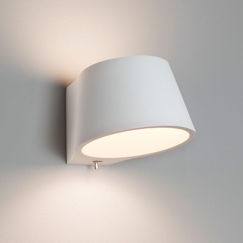 Koza interior wall light white plaster finish uses a 60w e14 lamp koza interior wall light white plaster finish uses a 60w e14 lamp ip20 rated suitable for bathroom zone 3 class 1 earthed aloadofball Gallery