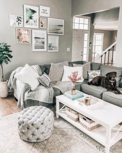 Cozy Living Room Decor Ideas, Gallery Wall, White Coffee