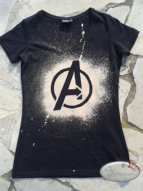 Shirt Mit Individuellen Mustern Bleichen Upcycling Gebleichte
