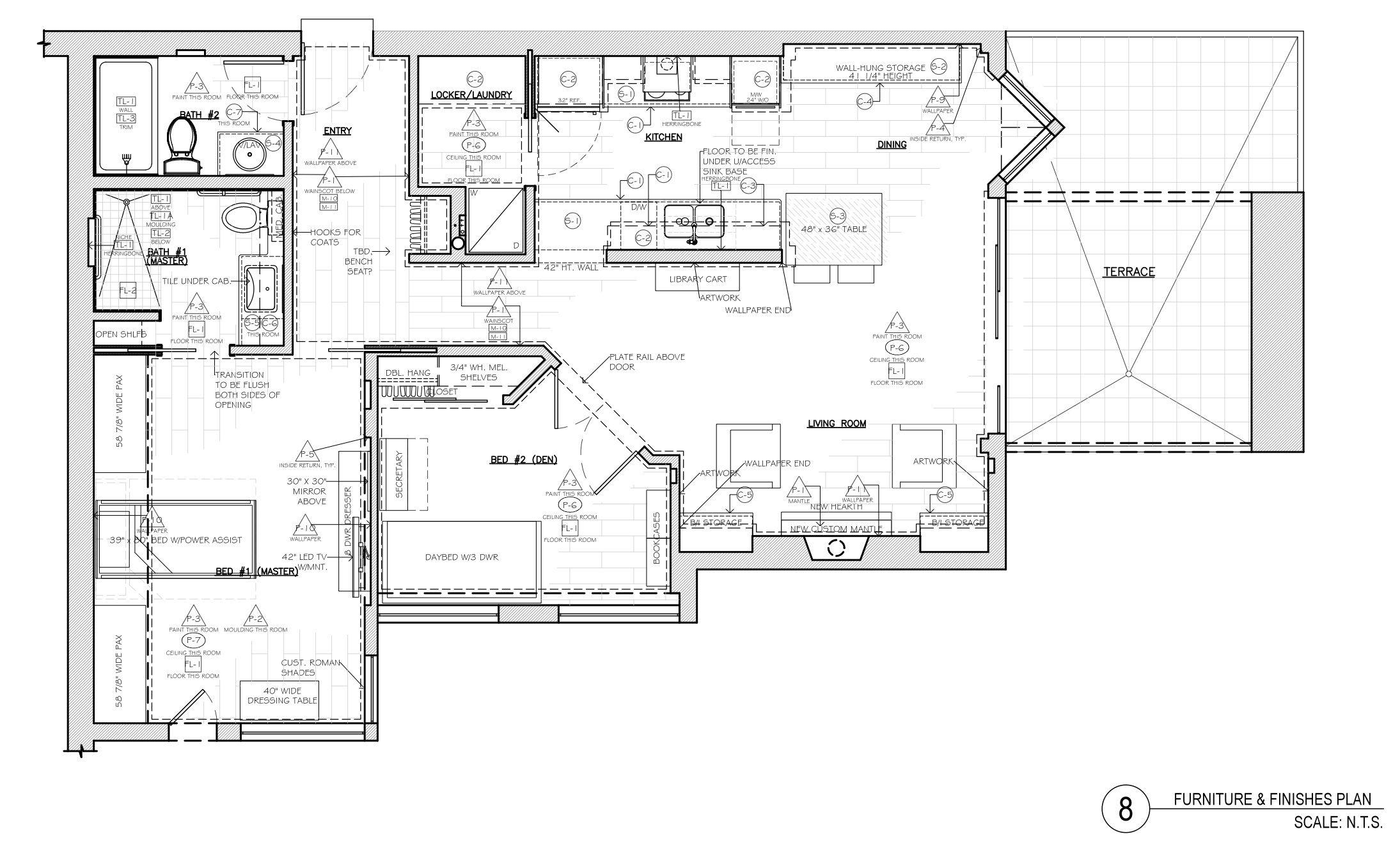 Corey Klassen Interior Design - Furniture Finishes Plan Example - (C ...