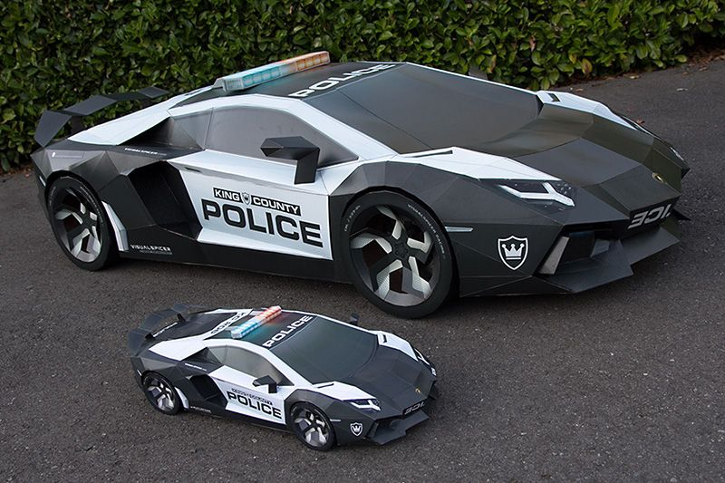 Lamborghini Aventador A E2 Ultimate Papercraft Supercar Lamborghini Aventador Super Cars Police Cars