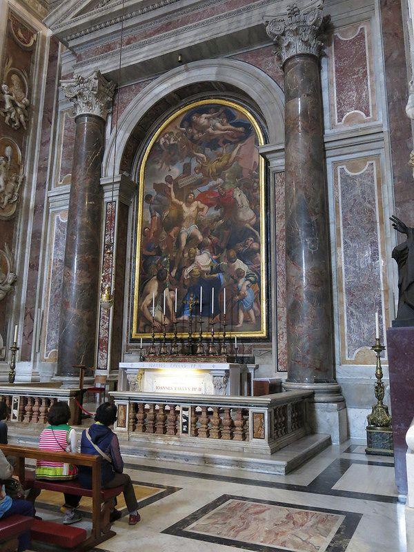 Tomb of Pope John Paul II inside St. Peter's in the