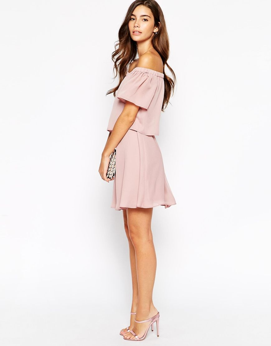 36b7a4516b Image 4 of ASOS Gypsy Off Shoulder Dress with Short Sleeves