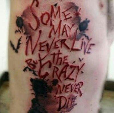 Joker Quote Tattoo   Tattoos   Tattoos, Badass tattoos und ...