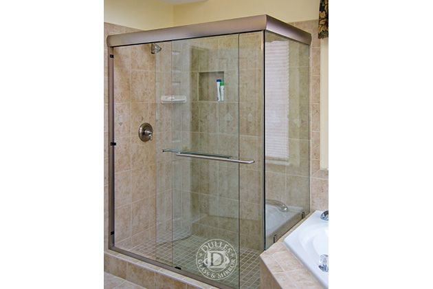 This Glass Shower Door Has Towel Bar 90 Degree Shower Semi