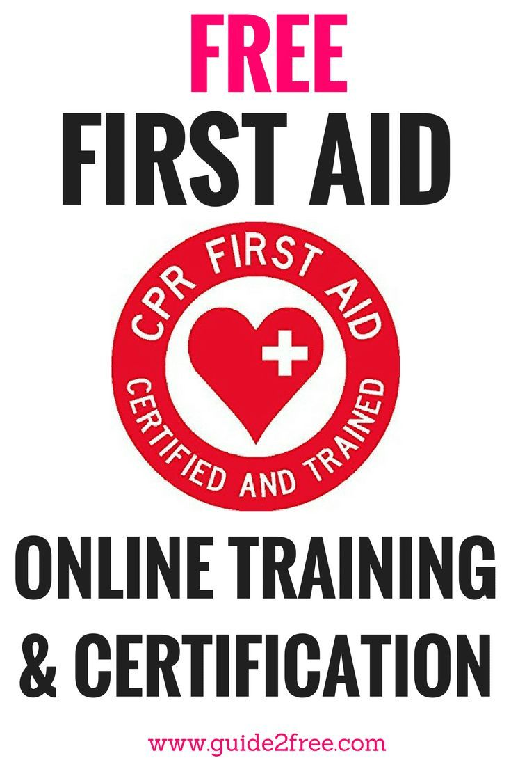 Free Online First Aid Training Courses Pinterest Free