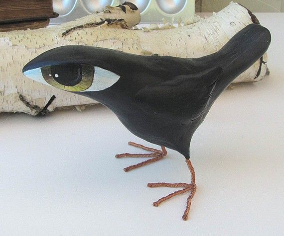 how to make a paper mache crow
