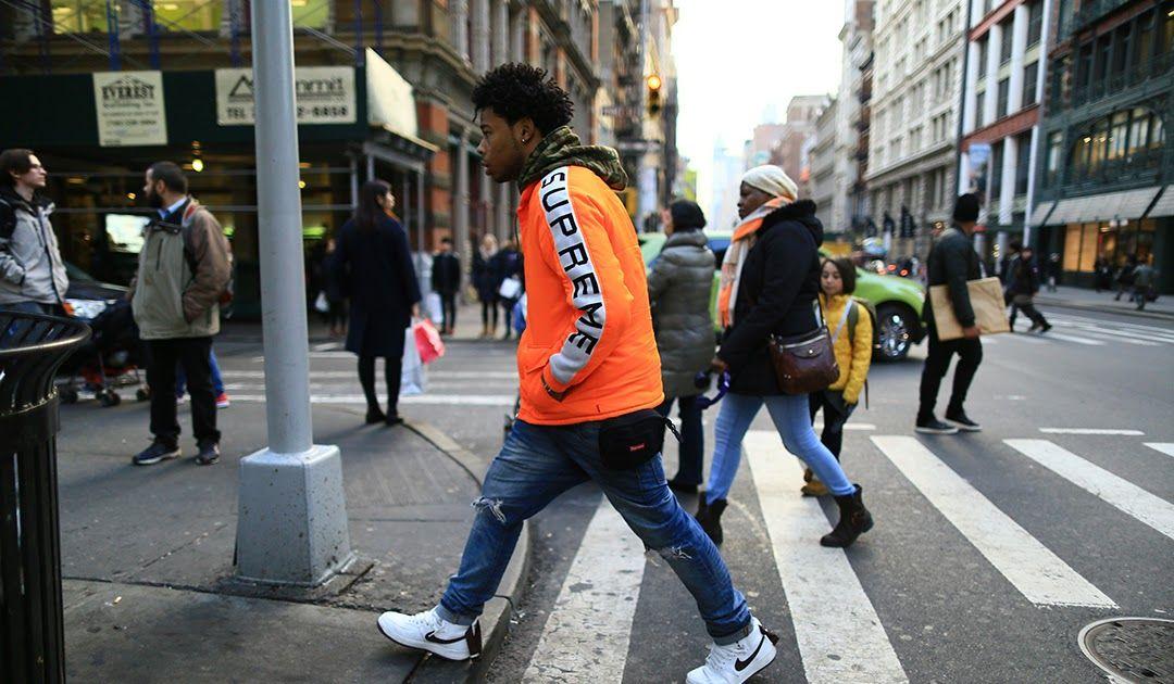 87db5722529 Best representation descriptions: Soho New York Street Style Related  searches: Supreme OutfitsSupreme Fashion MenSupreme ClothingSupreme Skate  ...