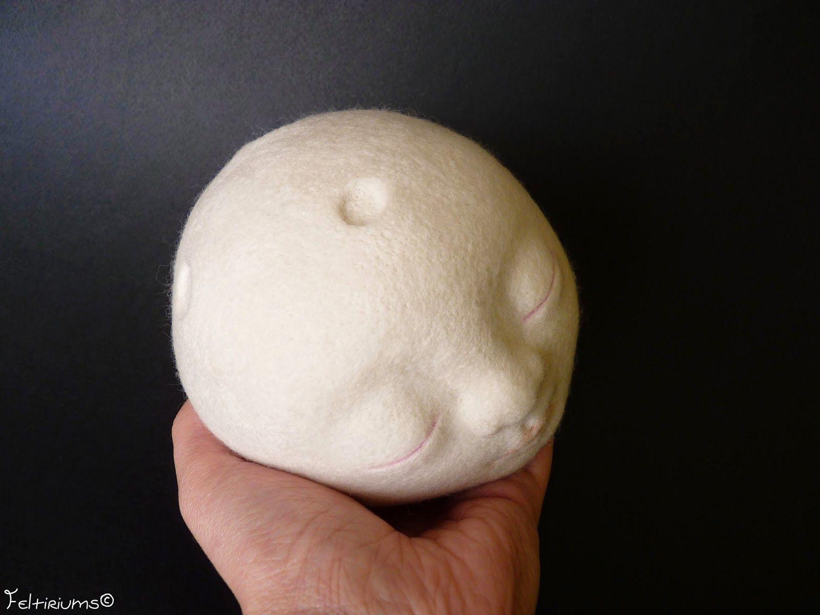 feltiriums:  La Luna needle felted sculpture