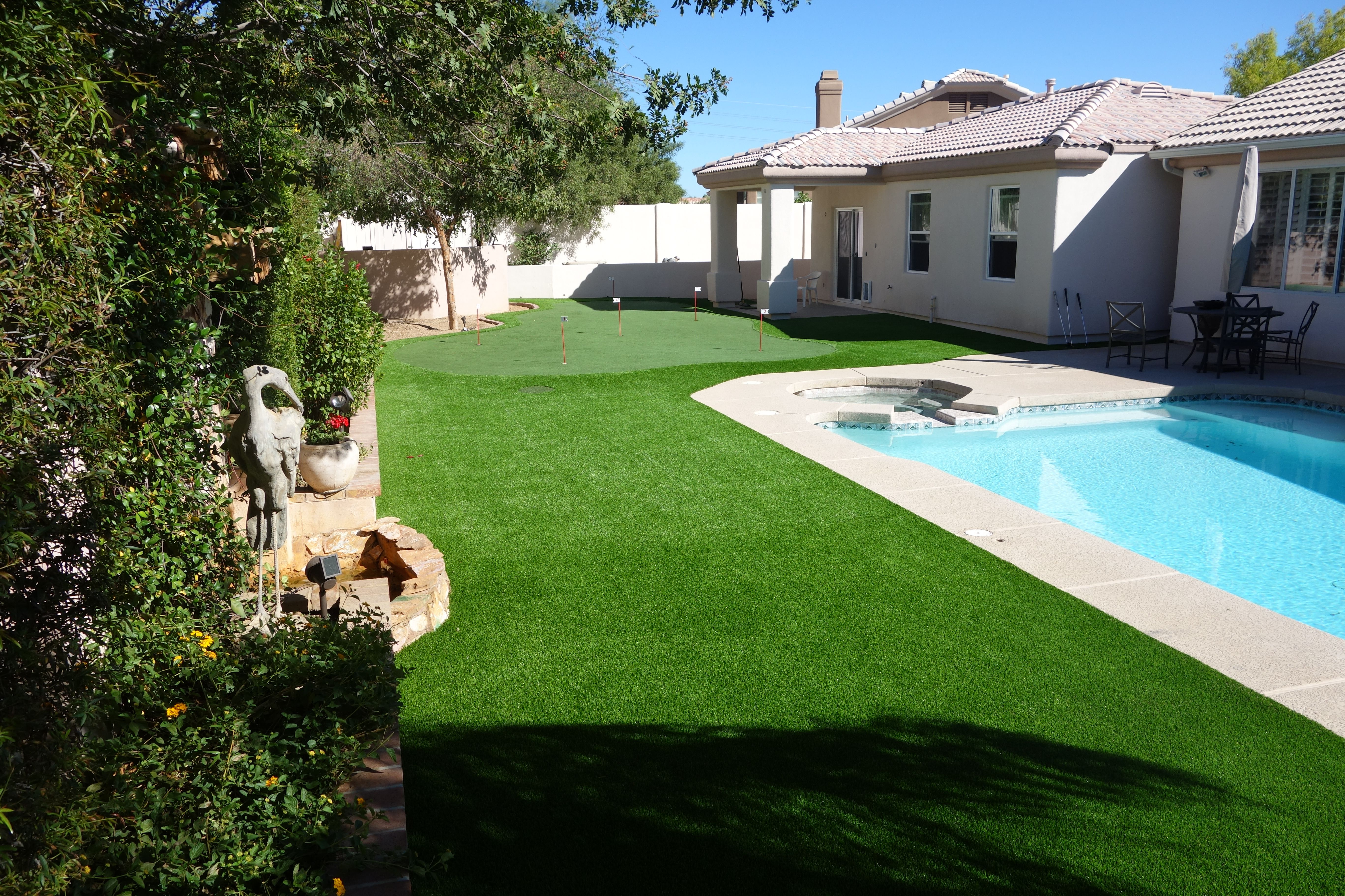 artificial lawn and putting green in scottsdale az around the