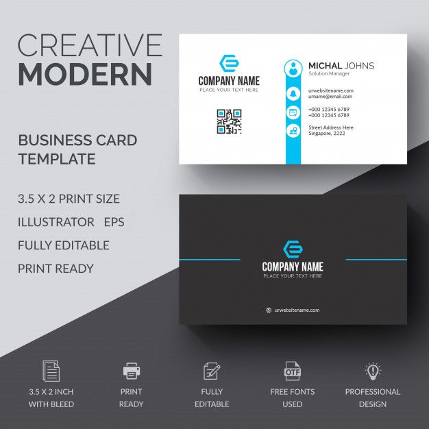 Business Cards Print Templates Business Card Design Template