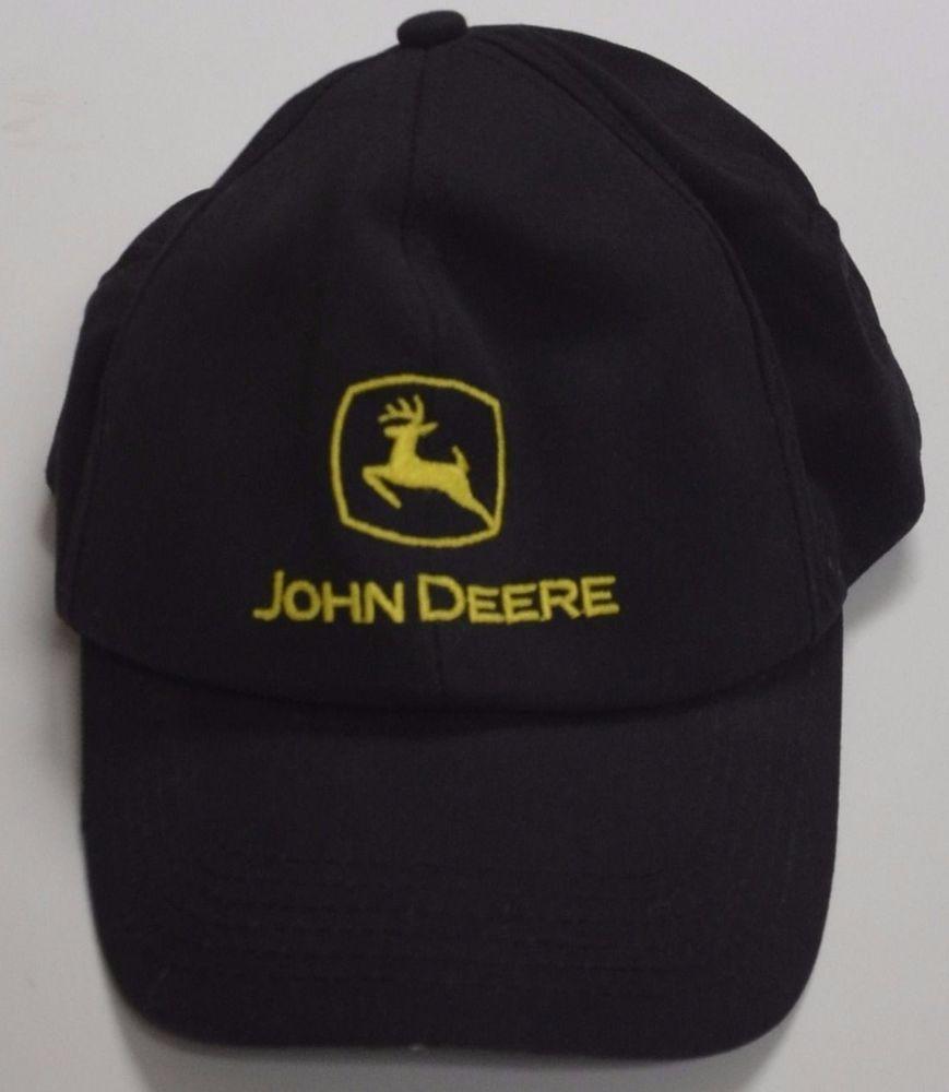 75af876fc8c4f2 John Deere Black Baseball Cap Hat Made in USA American Flag Snapback  Adjustable #KProducts #BaseballCap