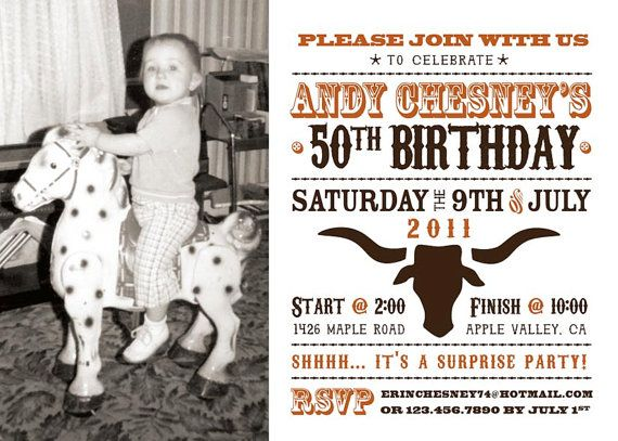 Wild West Photo Birthday Party Invitation by Paisley Prints Etc – Wild West Party Invites