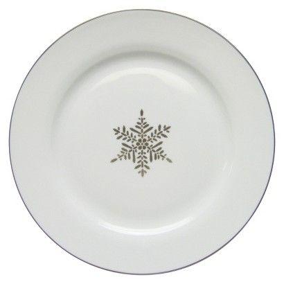 Threshold Porcelain Dinner Plate At Target Silver