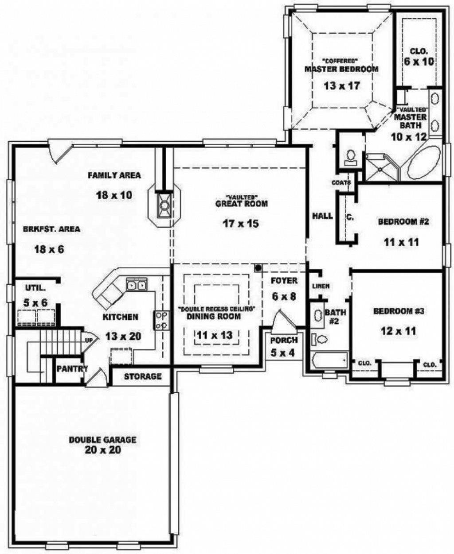 3 Bedroom 3 Bath House Plans Cottage floor plans, House