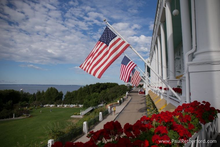 View of the Straits of Mackinac by Paul Retherford. #Americassummerplace