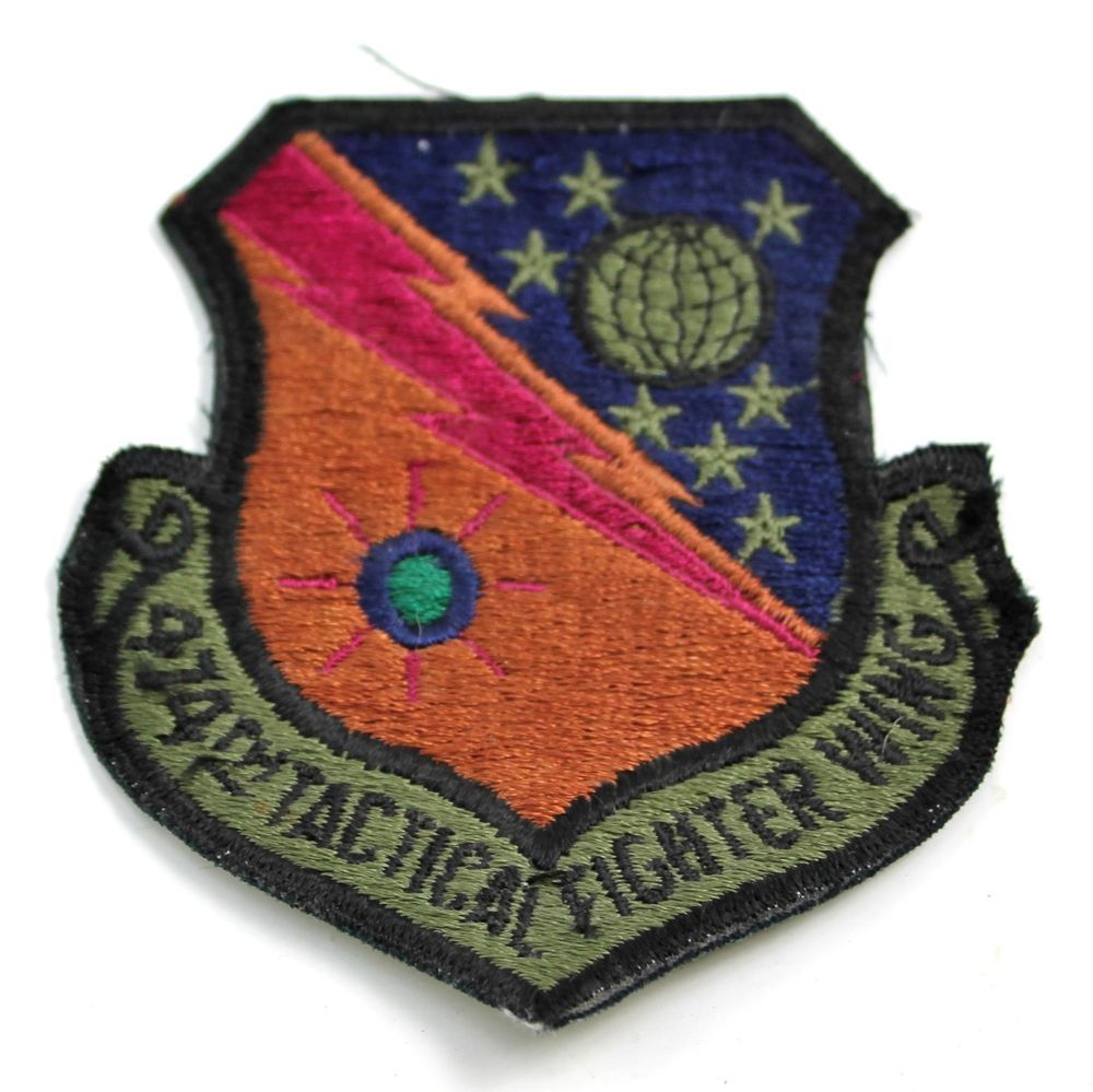 USAF 474th Tactical Fighter Wing TFW Patch Usaf, Patches