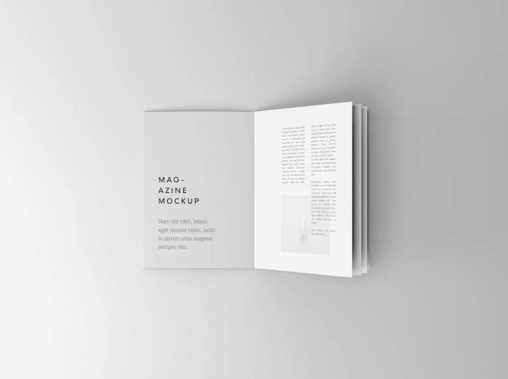 30 Free Magazine Mockups For A Realistic Presentation 2021 Magazine Mockup Brochure Mockup Free Magazine Mockup Psd