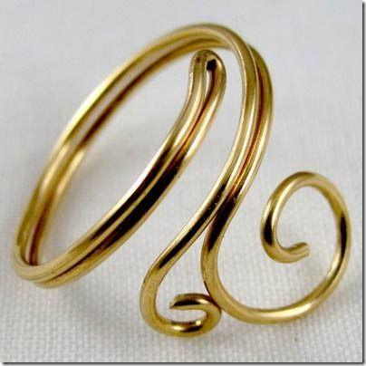 diy ring wire - Google Search-- maybe, it's definitely unique!