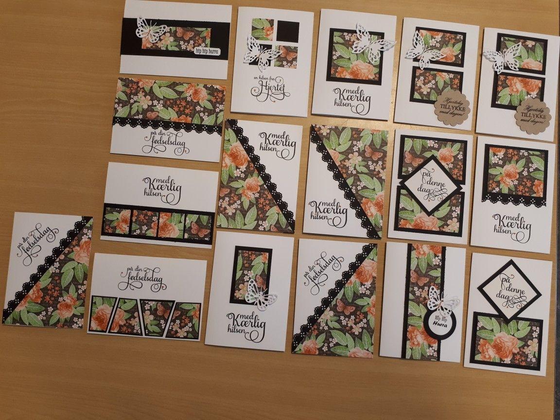 One Sheet Wonder 17 Kort Af Et 30x30 Cm Design Papir Plus Kort Og