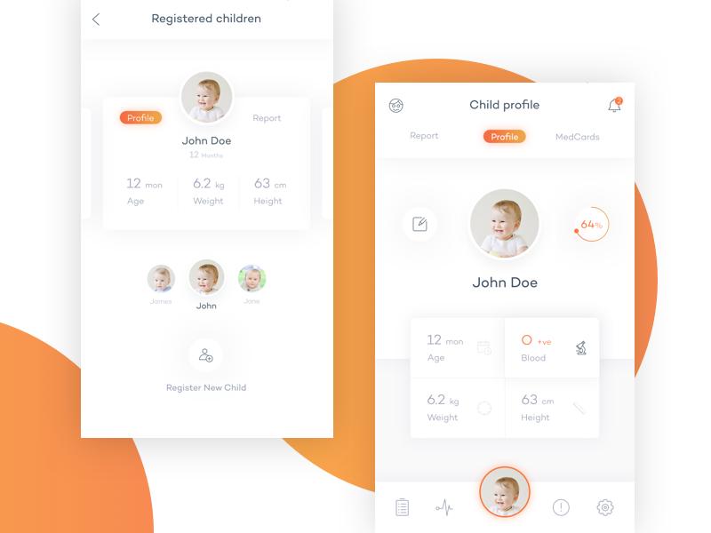 Smarko Health App Children Profile Health App Profile App Profile