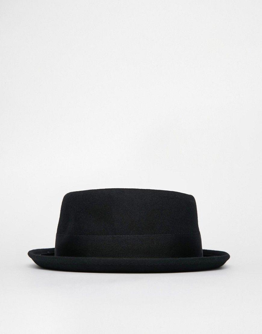 Image 4 - ASOS - Chapeau pork pie en feutre - Noir