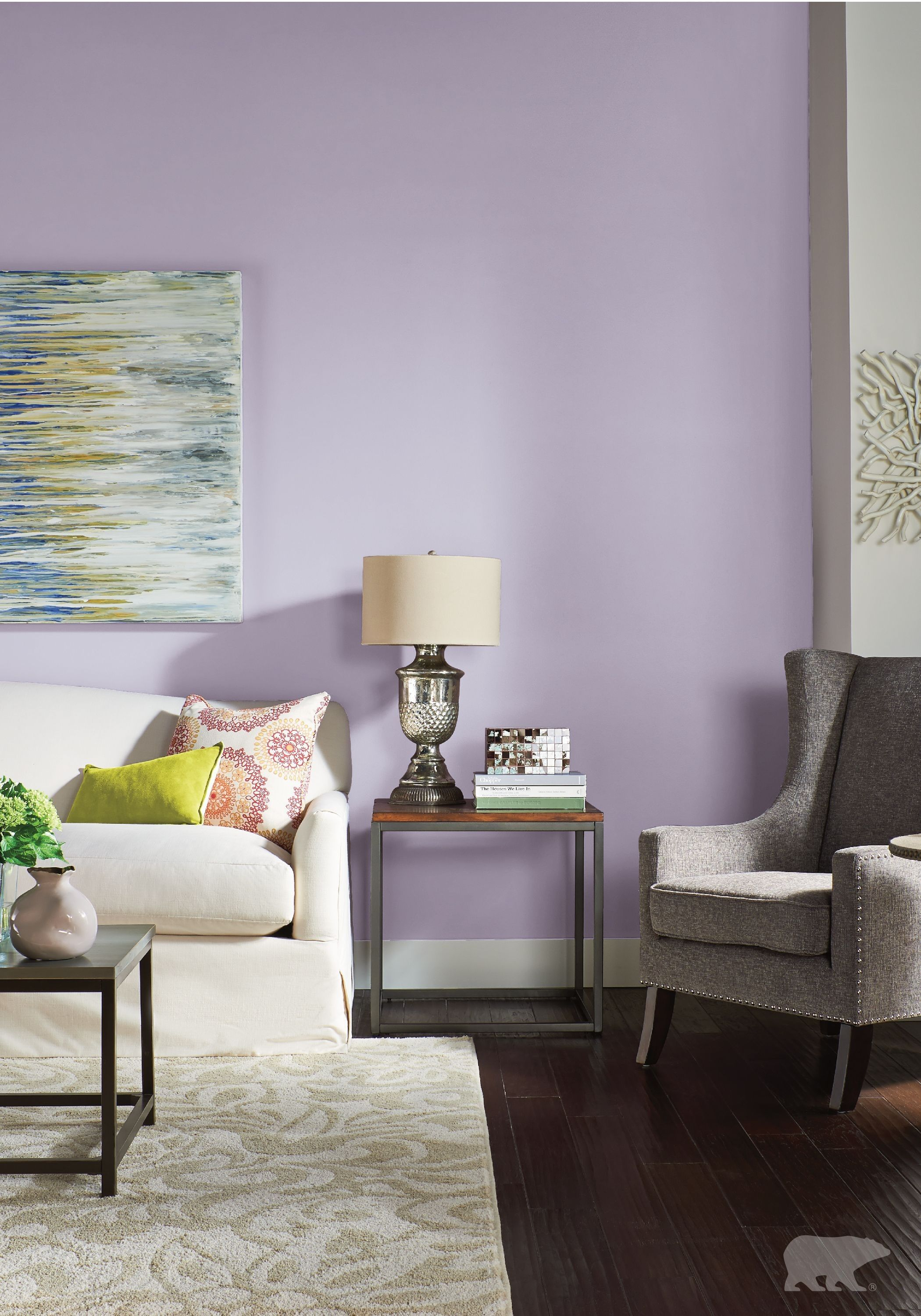Bedroom Decor With Soft Purple And White Combination Purple Living Room Lavender Living Rooms Paint Colors For Living Room #paint #colors #for #living #room #with #blue #furniture