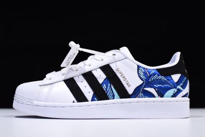 adidas superstar skate white / black / metallic gold