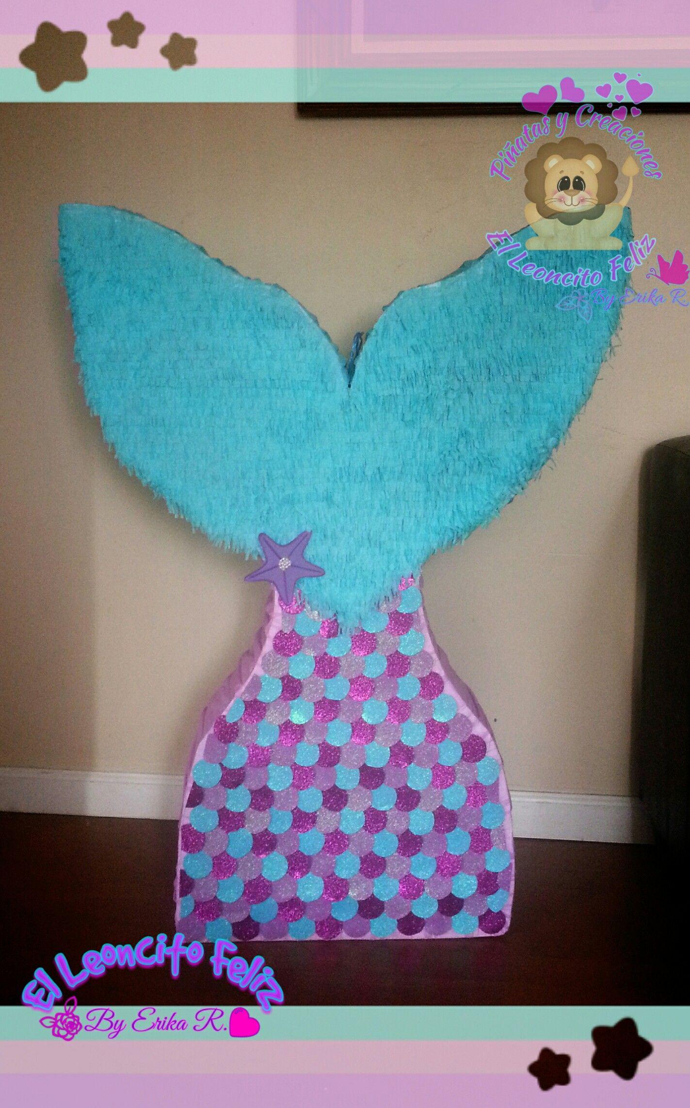 Mermaid Tail Piñata Cola De Sirena En 2019 Piñata De La