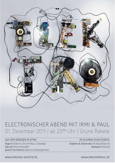 Bropix - Online Portfolio von Dirk Schuster - Grafik Design und Illustrationen - TrierElektro Plakatgestaltung