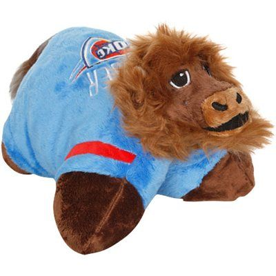 Oklahoma City Thunder Mini Mascot Pillow Pet Animal Pillows