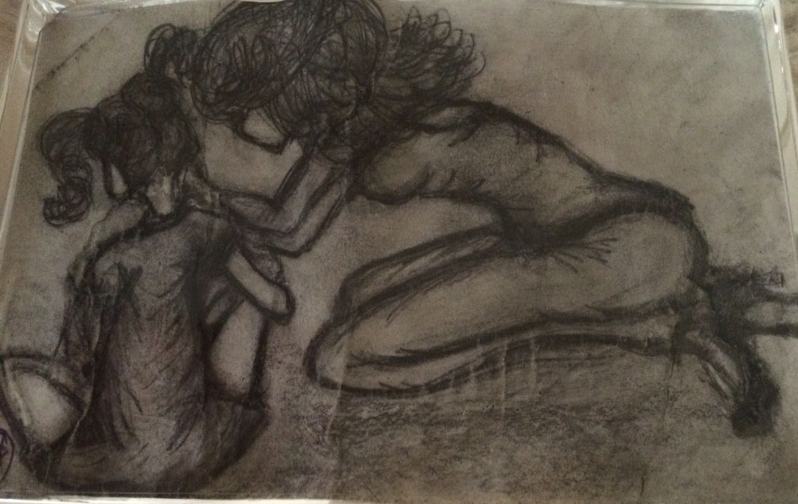 Comforting wounds of the past drawings painting art