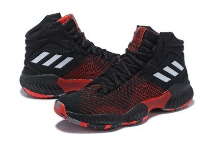 bddd22a531b08 adidas Pro Bounce 2018 Black University Red-White For Men in 2019 ...