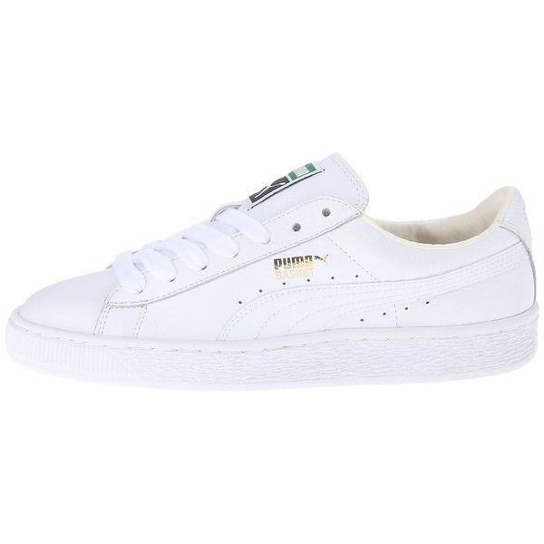 PUMA Basket Classic LFS (White White) Women s Shoes ( 70) ❤ liked on Polyvore  featuring shoes f2027d4b2
