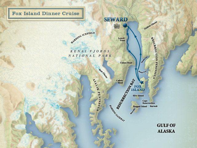 Fox Island Alaska Map.Fox Island Dinner Cruise Kenai Fjords Tours 70 Each Including